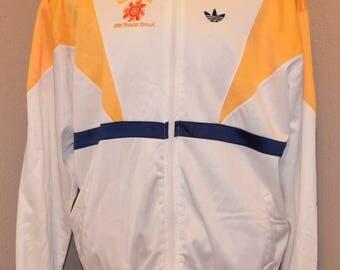 VTG Adidas Notre Dame Fiesta Bowl Jacket White XL X-Large 1989