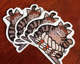 Sumo Lucky Cat Sticker
