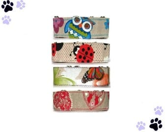 """Animals martingale Owls martingale Ladybugs martingale Butterflies martingale Heart and deers martingale Greyhound collar 1.5"""" or 2"""" collar"""