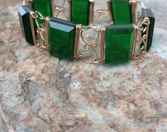 Green Lucite Vintage Bracelet