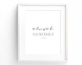 CS Lewis Quote - Typography Print - Love Quote Print - Typography Print - Minimal Print - Gifts Under 20 - Art Print - Home Decor