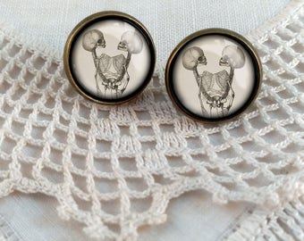 Siamese Twin Stud Earrings