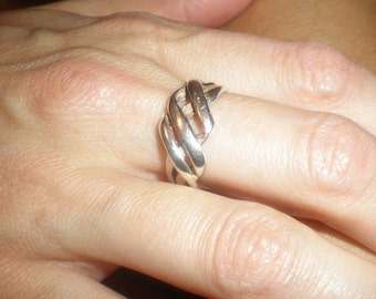 925 Vintage Silver Ring Braided Design