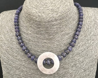 TANZANITE 925 sterling silver pendant necklace