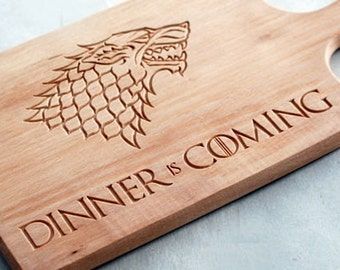 Game of thrones cutting board, Game of thrones cutting boards, Dinner is Coming Cutting Board Game Of Thrones, GOT Cutting Board, Gift