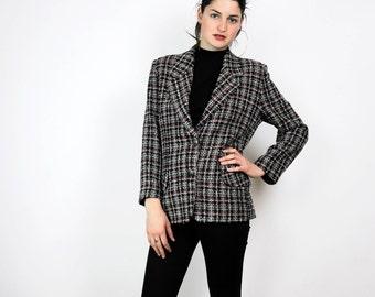 FREE SHIPPING Vintage 1980s plaid jacket