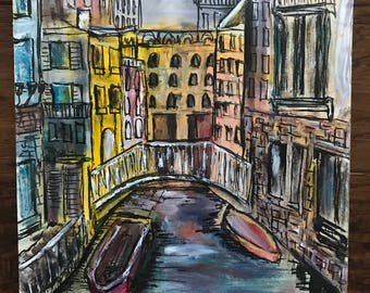 Original Venice Ink Sketch