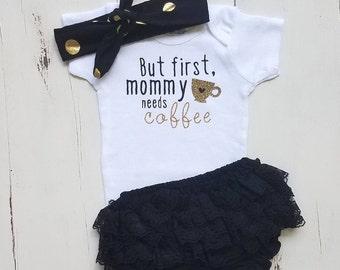 Baby girl clothes, Onesie, Baby girl, Baby girl outfit, Baby clothes, Baby girl onesie, Onesies, Baby girl onesies,Coffee onesie,Baby onesie