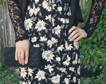 Floral Print 90's grunge Summer Dress/All That Jazz/90s floral dress/summer dress/vintage dress/90s dress/90's grunge dress