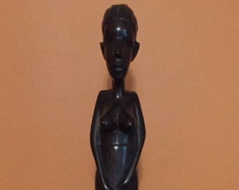 Wooden African Woman Figurine