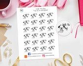 Walk the dog Planner Stickers Great for Erin Condren, Kikki K, Filofax, Happy Planner, Travellers Notebook, Bujo, Kate Spade etc, pets