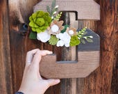 Felt Flower Letter, floral letter, best godmother gifts, gift from niece, niece gift from aunt, God daughter gift, present for godchild,felt