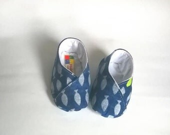 Blue Baby shoes with minnows