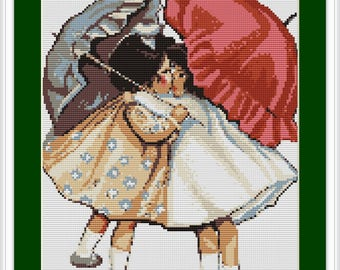 Luca-S Counted Cross Stitch Kit Girls Reconciled B378 Lucas