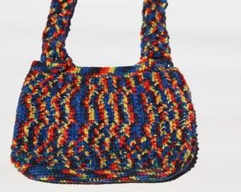 Multicolor child crochet handmade bag