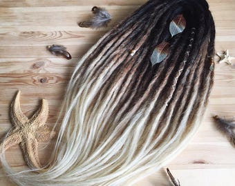 Ombre Double Ended Crochet Synthetic Dreads