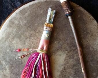 Totem MLB, objet magique, talisman, objet rituel, accessoire tambour chamanique, objet Sacré