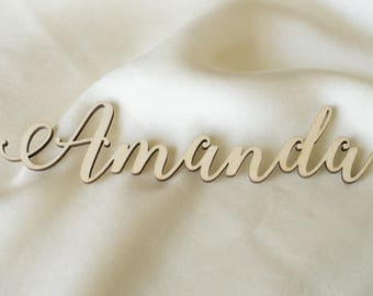 Laser cut names, Set of wedding place cards, wedding table signs, wood place cards, name cards, name cards wedding