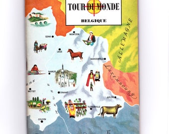 french Vintage Review: magazine around the world / the Belgium / Furet Editions, Paris. (1963)
