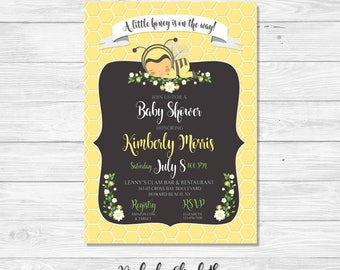 Baby Shower Invitation, Baybee Shower Invitation *DIGITAL FILE*