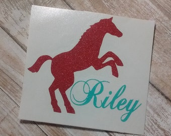 Horse Decal/Horse Monogram/ Vinyl Decal/ Pony Decal/ Monogram Horse Decal/Yeti Cup Decal/Horseshoe Decal/Cowboy Decal/Rodec Decal