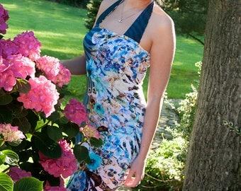 Summer dress, handmade, viscose jersey