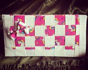 Woven Duct Tape Women's Wallet Unicorn and Rainbows