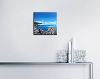 Acrylic paint - estuary