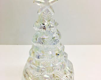 vintage pearlized glass christmas tree boxed 6 h - Glass Christmas Tree