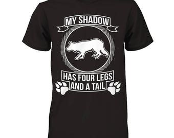 Funny Border Collie Shirt   Border Collie - My Shadow   A fantastic gift for all Border Collie owners