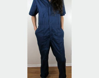 Vintage WALLS Master Made Jumpsuit Mechanic Blue coveralls