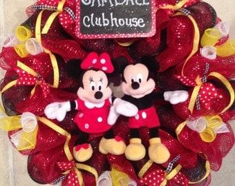 Minnie Mouse Wreath (Add Mickey)