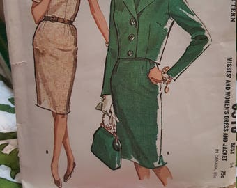 Mccalls vintage pattern #6516 year 1962 size 14