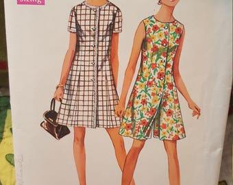 Simplicity #8218 size 16 vintage 1969