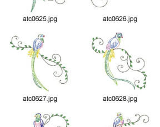 Multiline-Birds ( 10 Machine Embroidery Designs from ATW ) XYZ17F