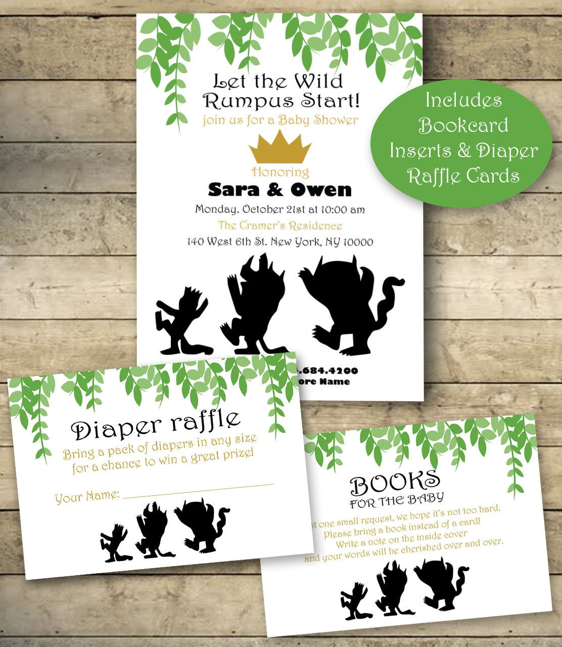 Where The Wild Things Are Baby Shower Invitation Diaper