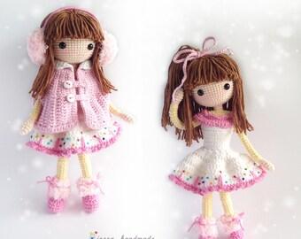 Crochet Doll Pattern / Amigurumi Doll Pattern / Icelyn / PDF Crochet Doll Pattern / Instant Download