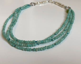 Amazonite and Apatite Necklace FREE SHIPPING