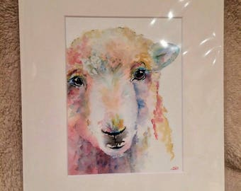 "Sheep 12"" x 10"" Original watercolour painting"