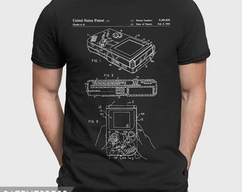 Nintendo Gameboy T-Shirt, Nintendo Gamer T Shirt, Gameboy Patent Shirt, Classic Nintendo Gift For Gamer Gift For Retro Gamer, Geek Gift P138