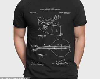 Gibson Mandolin  T-Shirt Gift For Bluegrass Player, Country Music T-Shirt For Bluegrass Fan, Country Music Gift For Guitar Player P441