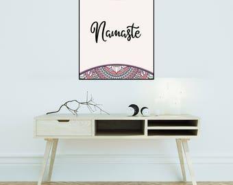 Namaste Print, Namaste Sign, Namaste Wall Art, Namaste Poster, Yoga Print, Namaste Decor, Spiritual Quotes, Mediation Print, Namaste Art