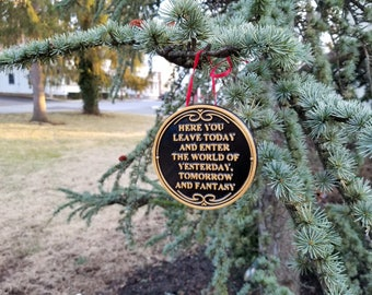 Main Street Entranceway Welcome Plaque DW Inspired Sign Christmas Ornament ( Disney / Park Prop Inspired Replica )