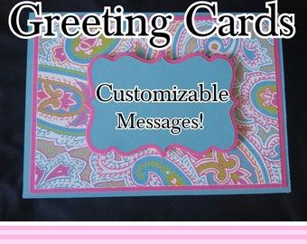 Custom-Message Greeting Cards