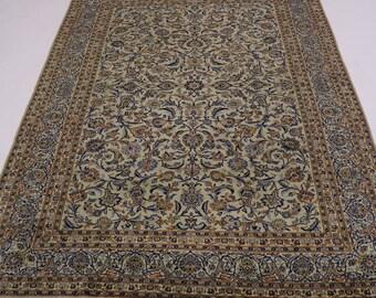 Gorgeous Semi Antique Signed Sage Kashan Persian Rug Oriental Area Carpet 9X13