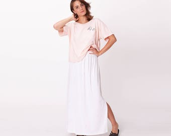 White maxi skirt | Etsy