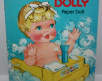 Whitman 1977 Rub-a-Dub Dolly Paper Doll Book Unused Uncut Vintage