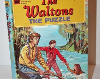 The Waltons (The Puzzle) Hardcover Vintage Book by Whitman 1975