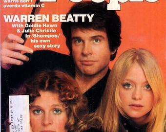 Warren Beatty Goldie Hawn People Magazine April 14, 1975 Issue