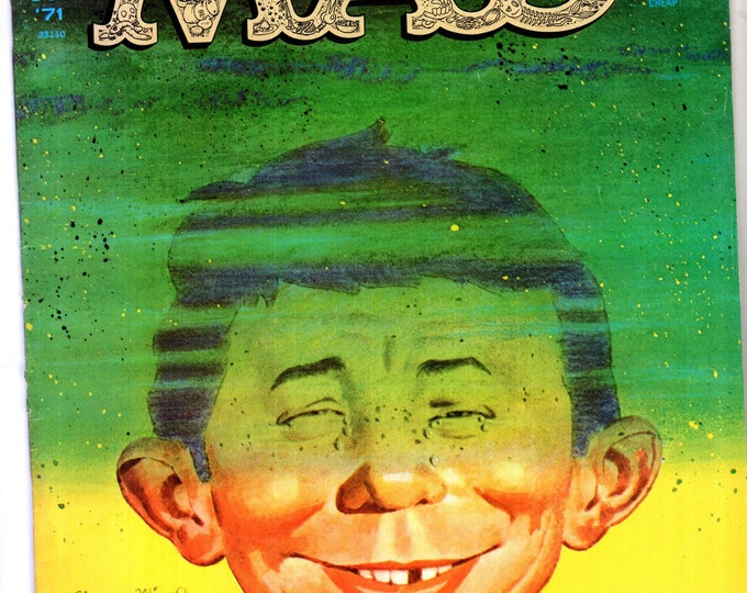 MAD Magazine #146 October 1971 Alfred E Neuman Pollution Cover